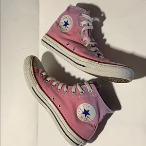 Converse All Star high tops Pink/ purple sz 9